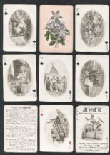 Antique playing cards. Rocky Mountain Souvenir 1899